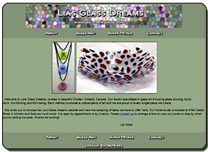 Big Dog Web Design :: Lia's Glass Dreams