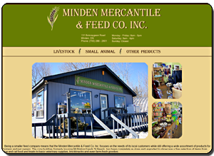 Big Dog Web Design :: Minden Mercantile & Feed Co. Inc.