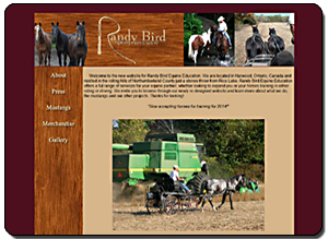 Big Dog Web Design :: Randy Bird Equine Education